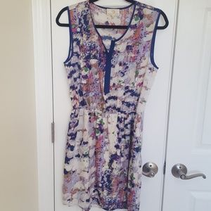 Beautiful watercolor dress with pockets
